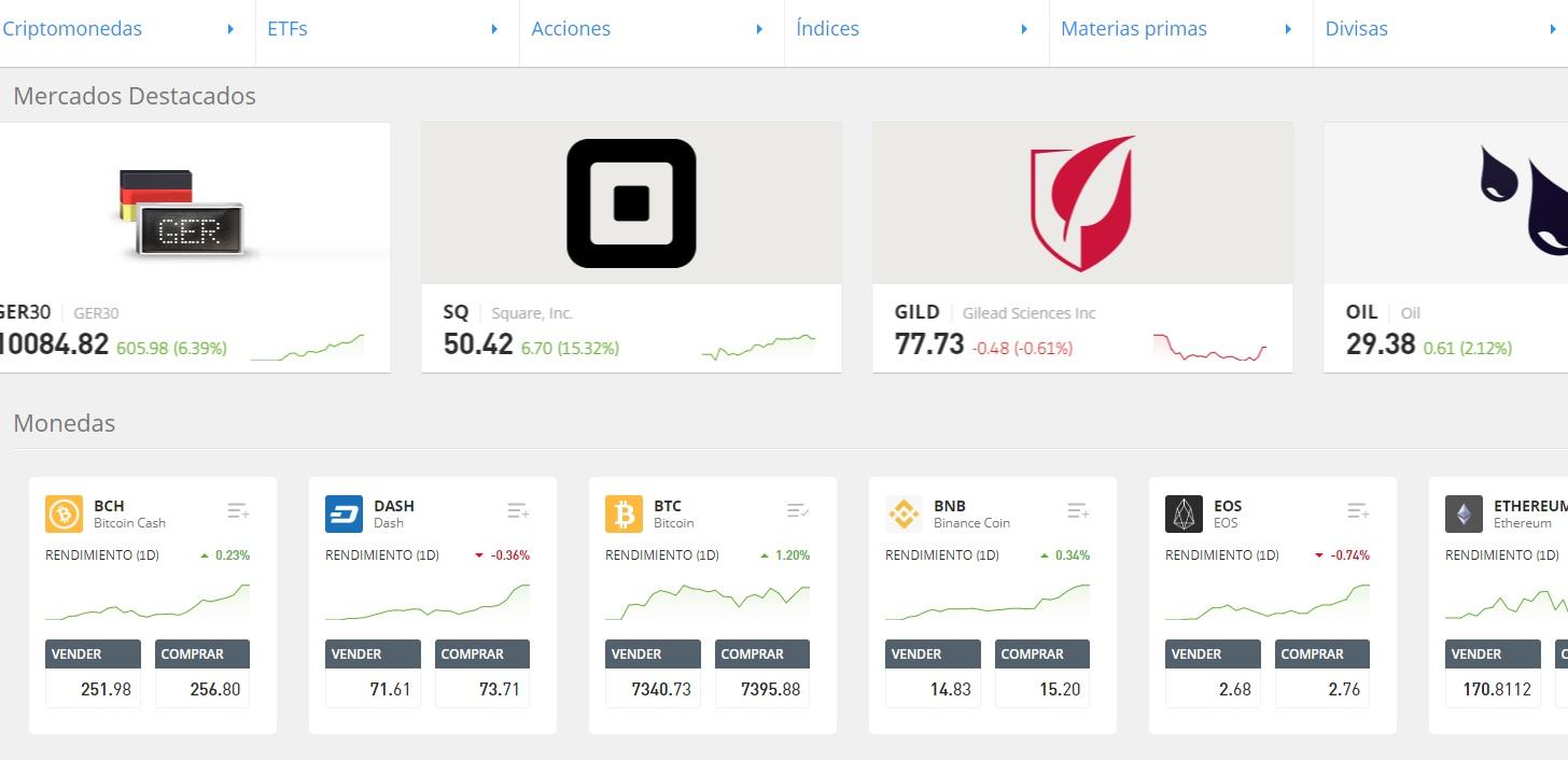 instrumentos para eToro Bitcoin